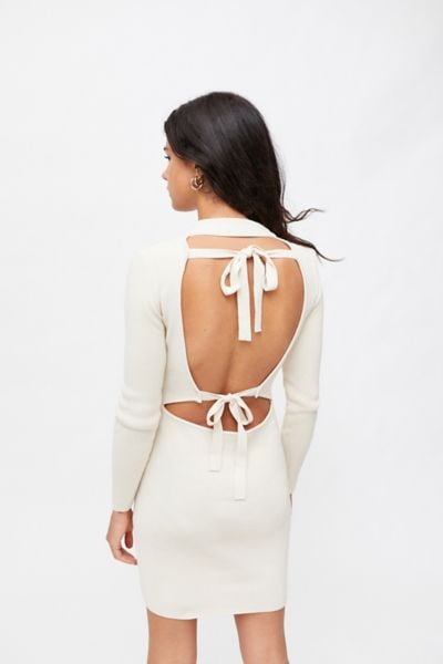 Urban Outfitters Milk It Ribbed Backless Mini Dress