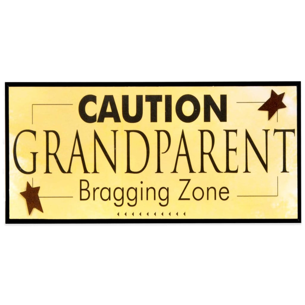 For the Grandparent Who Is Beyond Proud: Grandparent Bragging Zone Wall Plaque