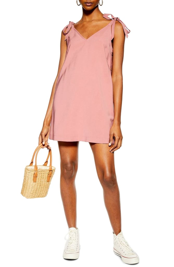 Topshop Tilda Button Mini Slipdress