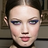 Fall makeup can have loads of color, too. Jason Wu showed a cat eye in a vibrant purple hue for Fall.