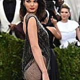 In 2017, Kendall completed her chainmail La Perla gown with black Lorraine Schwartz stackable rings at the Met Gala.