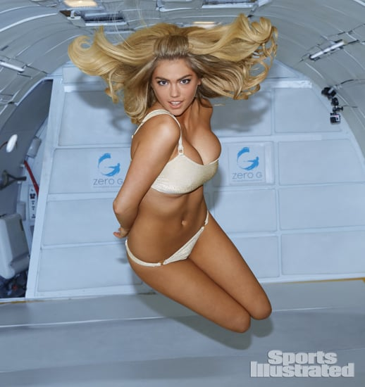 Kate Upton in a Bikini in Zero Gravity Plane