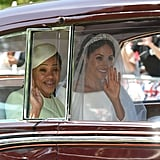 Meghan Arriving With Her Mum, 2018