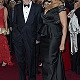 Robert De Niro and Grace Hightower arrived on the Oscars red carpet together.