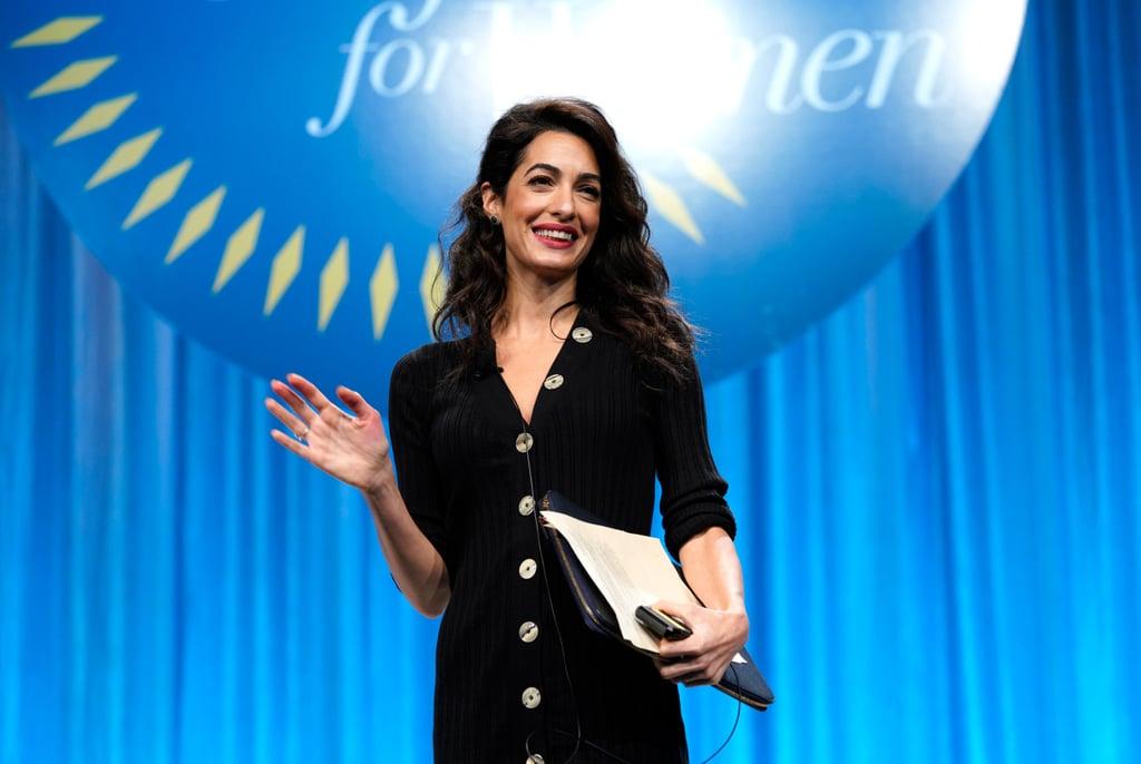 Amal Clooney Paule Ka Black Sweater Dress