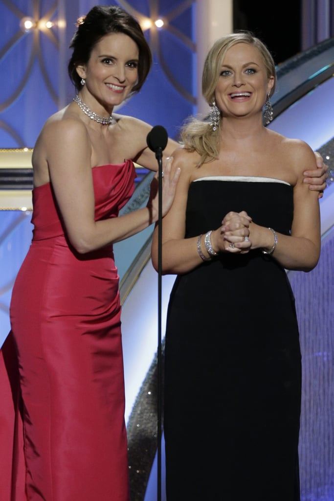 Tina Fey and Amy Poehler at the Golden Globes 2014 vs. 2013