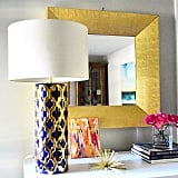 The find: a blue and gold lamp.