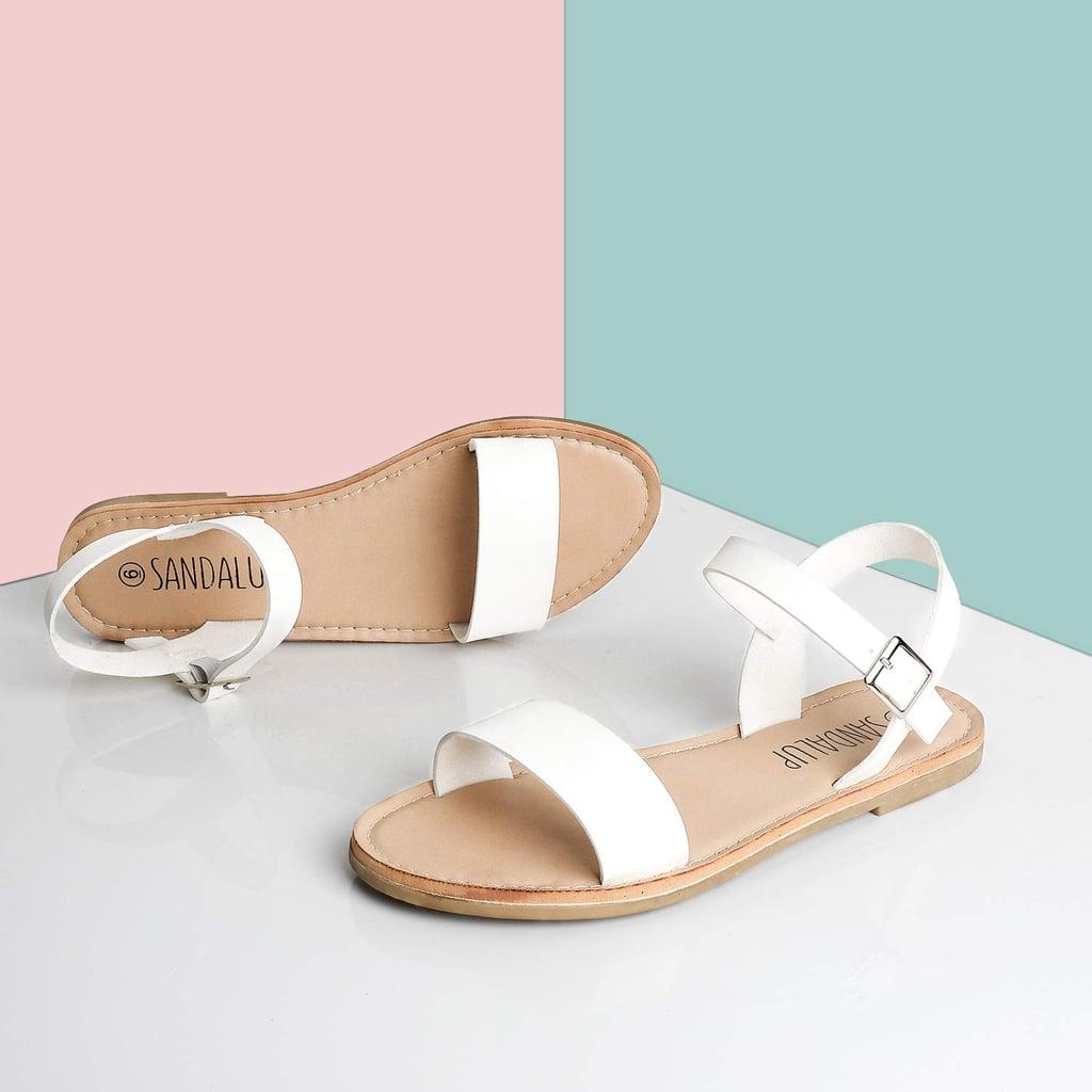 SandalUp Soft Faux Leather Flat Sandals