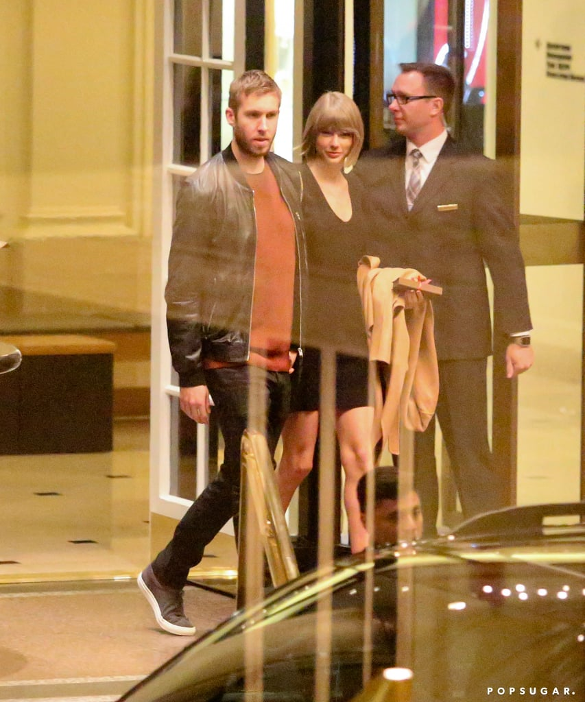 Taylor Swift and her boyfriend, Calvin Harris, were spotted out on a romantic dinner date at the Beverly Wilshire Hotel on Tuesday night. The couple, who's been dating since 2015, kept close and held hands as they made their way out of the restaurant and into their vehicle. At one point, they even flashed a couple smiles — perhaps they were celebrating their one-year anniversary? Taylor is currently on hiatus after recently wrapping up her 1989 world tour and has been enjoying her time with her other half. In January, the ridiculously good-looking pair stepped out for a candlelit dinner at the Giorgio Baldi Ristorante in Santa Monica and most recently, Taylor celebrated her Grammys win with Calvin at a star-studded afterparty at Hyde nightclub in West Hollywood. Read on to see more of the duo's night out, and then look back at their sweetest moments together.