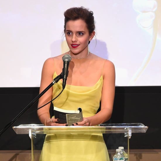 Emma Watson Wearing Yellow Dior Haute Couture Dress