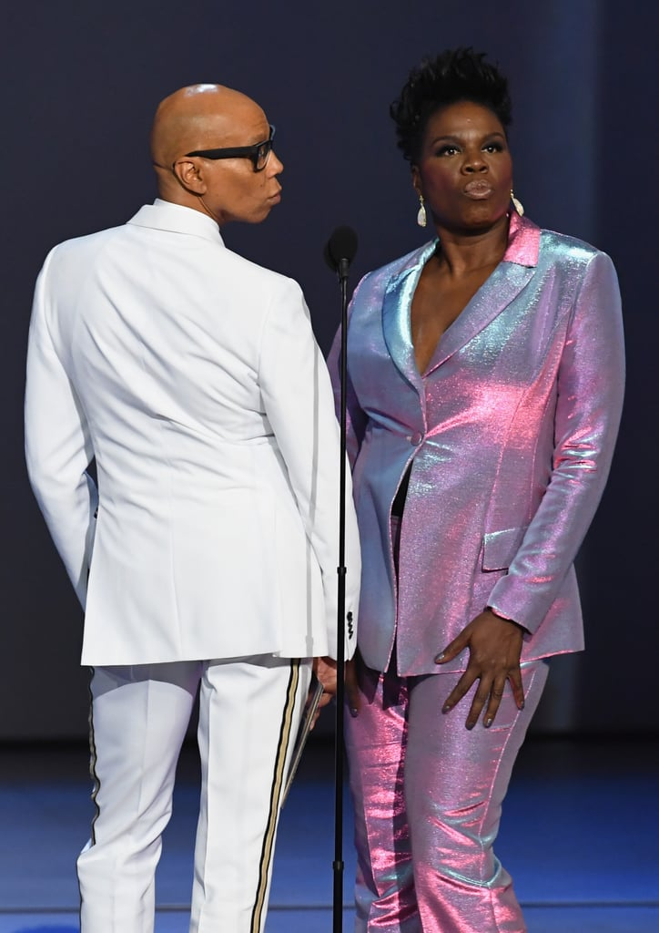 RuPaul and Leslie Jones at the 2018 Emmy Awards