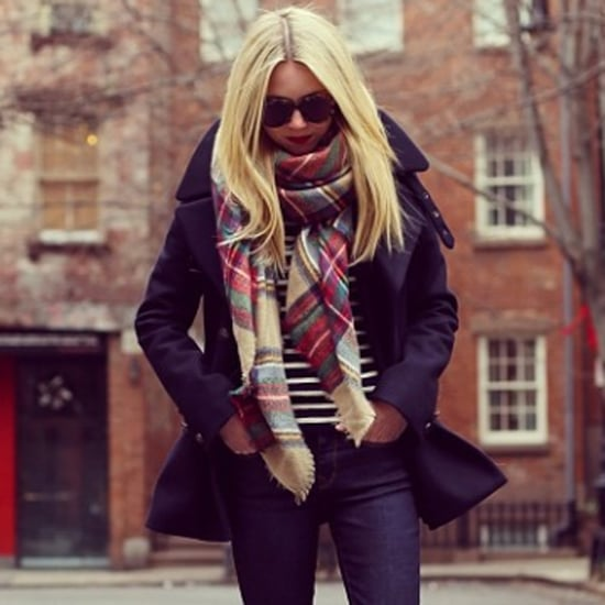 Oversize Plaid Scarves