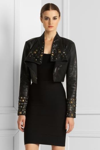 """"""". . . and chic metallic studs can add a cool, artistic edge to refined styles."""""""