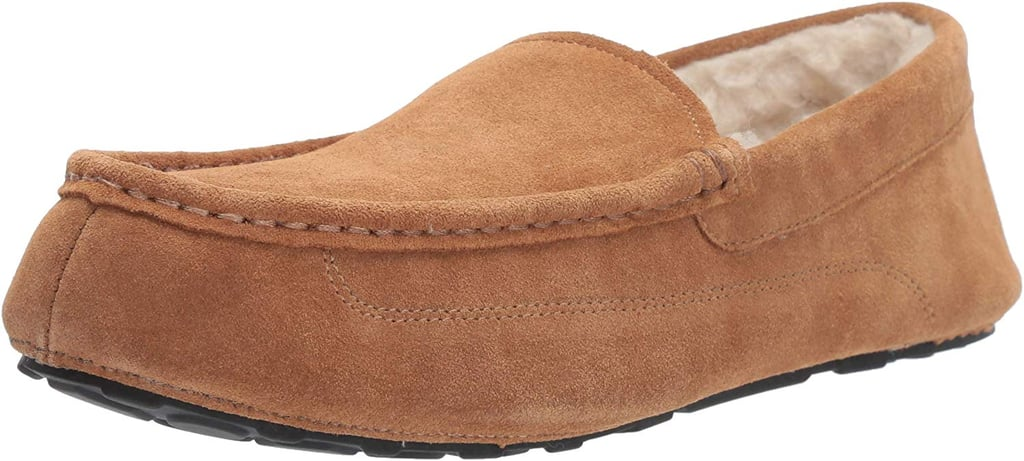 Amazon Essentials Men's Leather Moccasin Slippers
