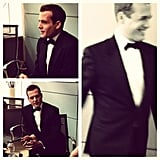 Gabriel Macht looked oh-so dapper on the set of Suits. Source: Instagram user suits_usa