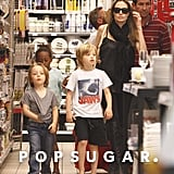 Angelina Jolie took her kids shopping in France.