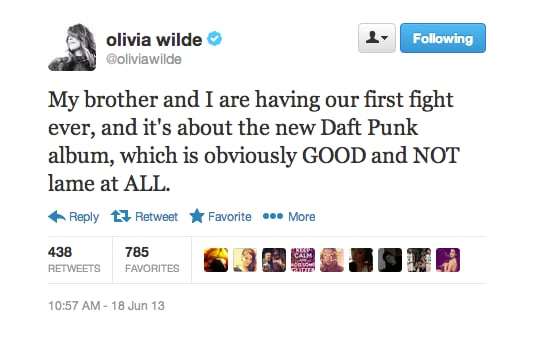 Olivia Wilde and her brother had a serious music debate.