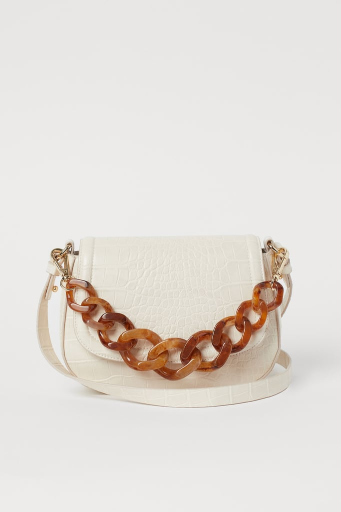H&M Crocodile-Pattern Shoulder Bag