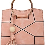 Shein Ring Handle Geometric Design Crossbody Bag With Tassel