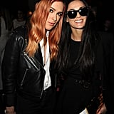 Demi Moore joined her daughter Rumer Willis at the LA premiere of Palo Alto on Monday.