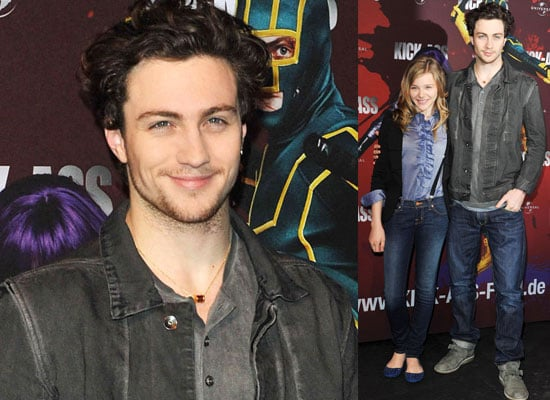 Photos of Aaron Johnson and Chloe Moretz Promoting Kick-Ass in Berlin