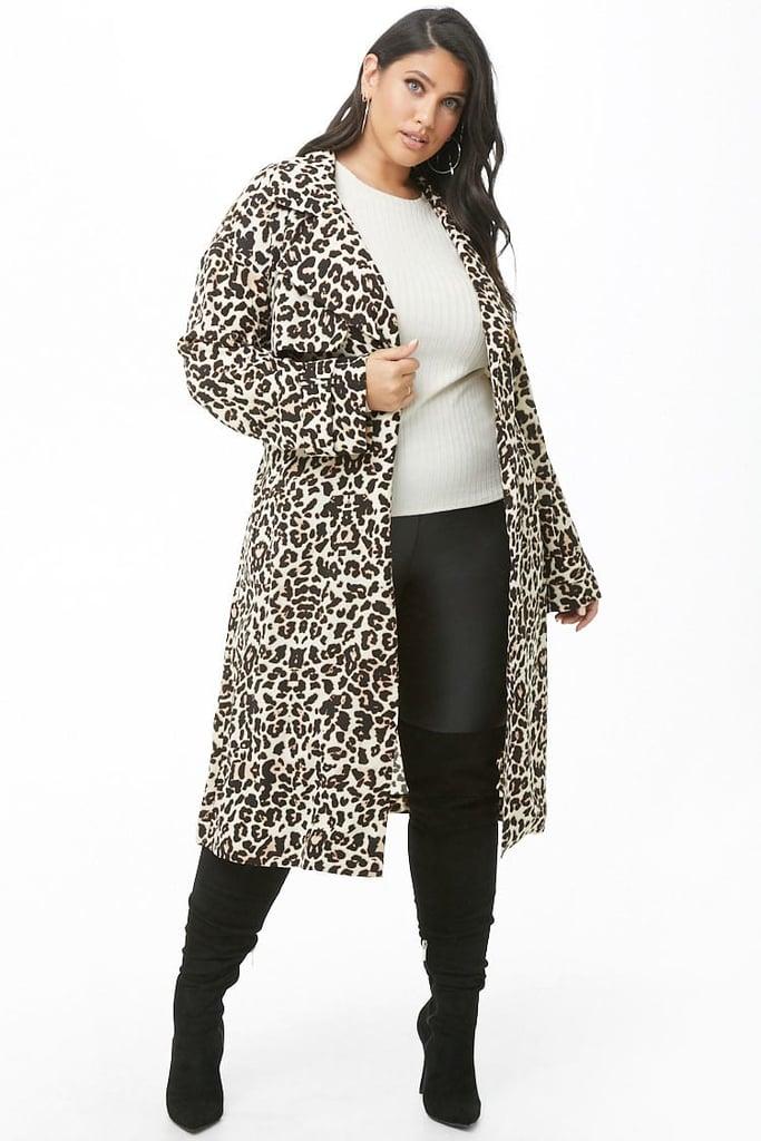 Forever 21 Plus Size Leopard Print Coat