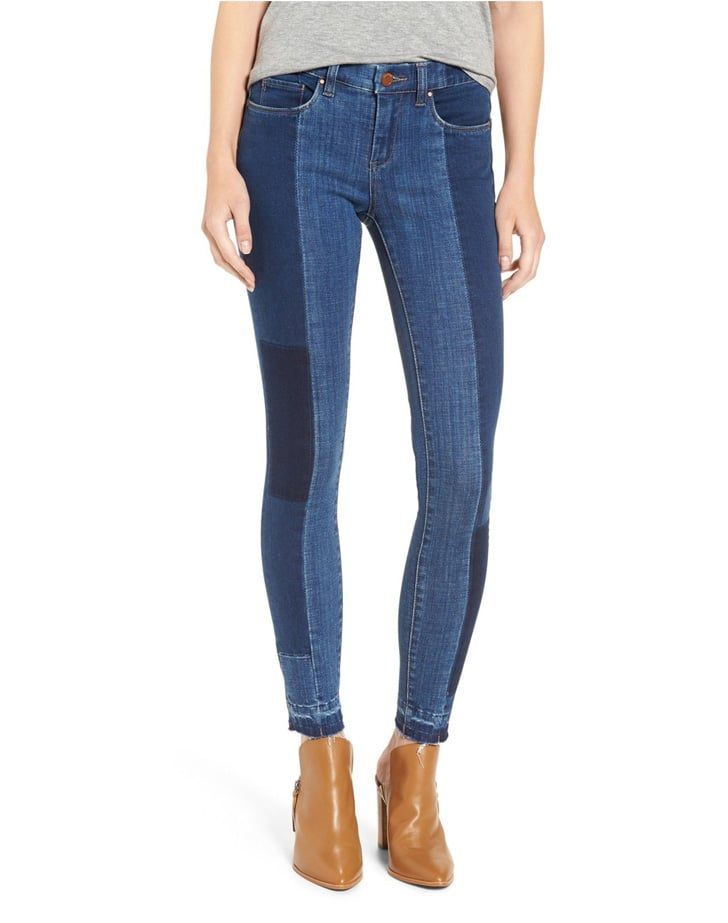 Blank NYC 'Youth in Trouble' Colorblock Skinny Jeans ($98)