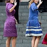 Princess Eugenie and Princess Beatrice, Diamond Jubilee Service 2012