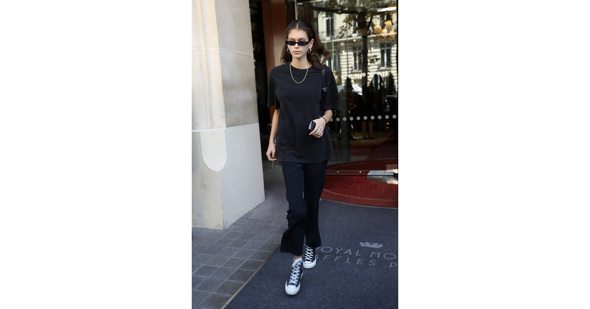 Kaia Gerber Kept Things Casual in Black Separates and ...