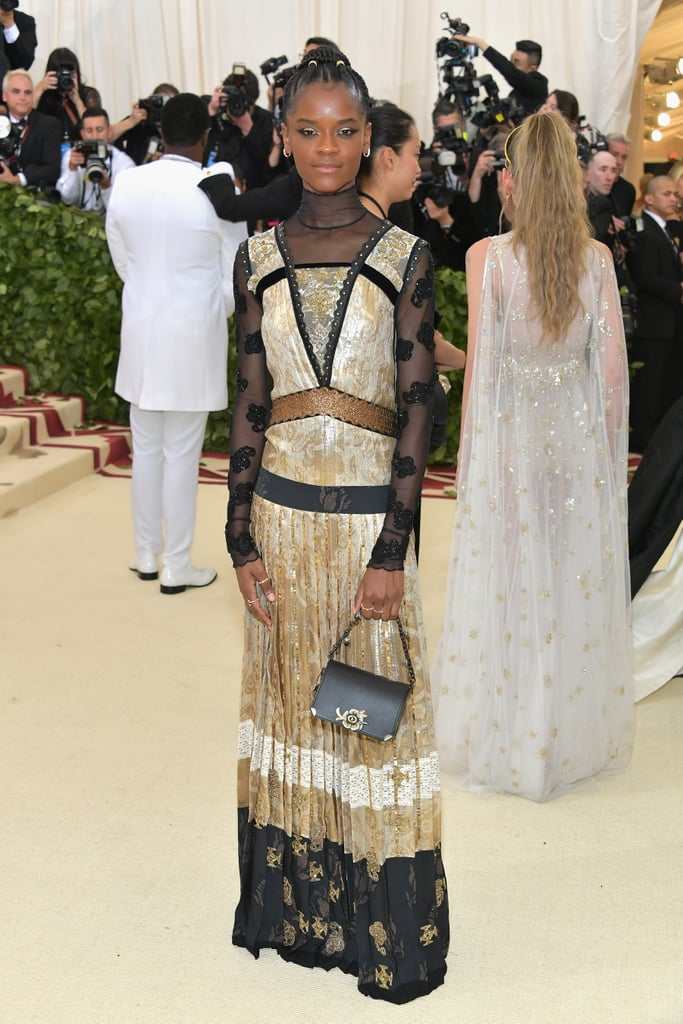 Image result for letitia wright at met gala images