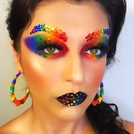 30+ Rhinestone Halloween Makeup Ideas