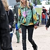 Cara Delevingne was spotted at the festival.
