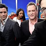 While the group was on set, Rihanna also had one epic photobomb moment. Source: Twitter user GMA