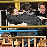Pictures of Tom Cruise and Katie Holmes Hugging on the Set of Mission Impossible 4