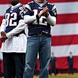 Tom Brady took the field during April 2004's opening day.
