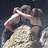 Miley and Liam kissed on the beach in Malibu.