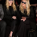 Mary-Kate and Ashley Olsen at the J. Mendel presentation.