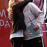 Emma Stone and Jimmy Fallon embraced at a May 2012 Revlon run.