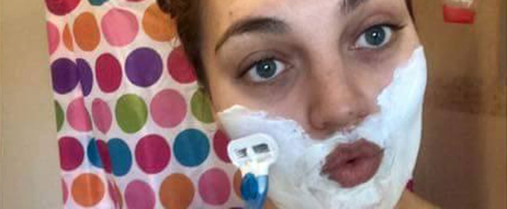 Why This Woman's Powerful Photo of Herself Shaving Her Face Is Going Viral