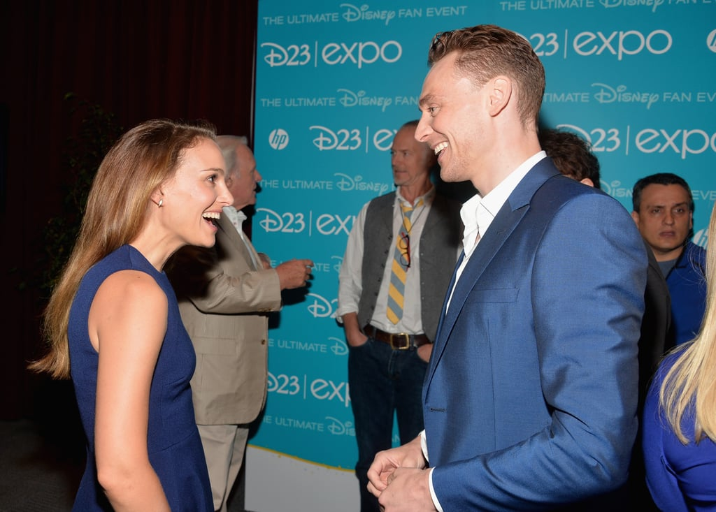 Natalie Portman laughed with Tom Hiddleston at the D23 Expo.