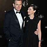 Ewan McGregor and Eve Mavrakis posed on their way into the opening dinner at the Cannes Film Festival.