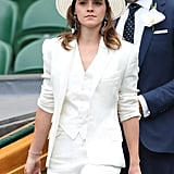 Emma Watson at the 2018 Wimbledon Tennis Championships