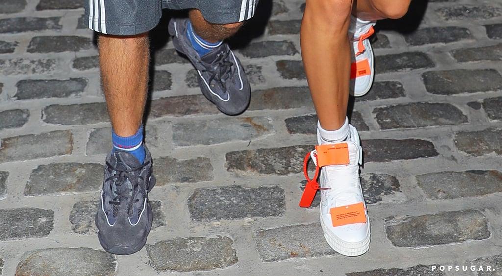 hailey baldwin off white sneakers