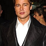 Hello, lover! Brad was clad in leather for the LA premiere of Ocean's Twelve in December 2004.