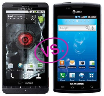Droid X vs. Samsung Captivate