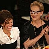 Julia Roberts and Meryl Streep shared a laugh.  Source: Christopher Polk/NBC/NBCU Photo Bank/NBC