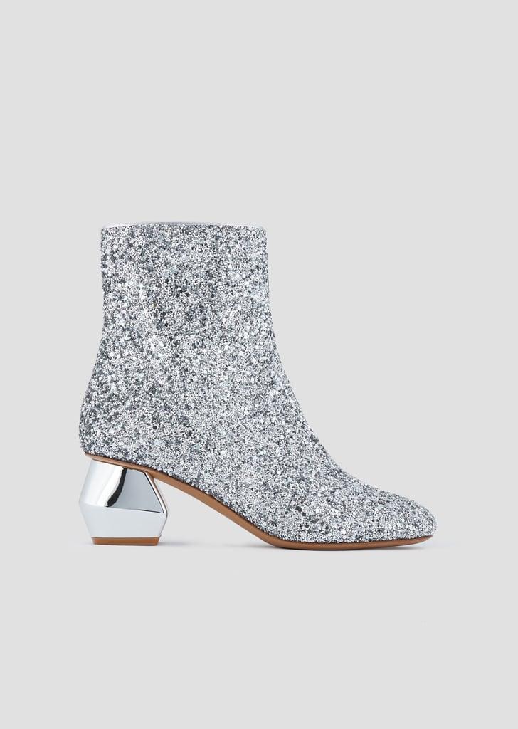 Emporio Armani Glitter Ankle Boots