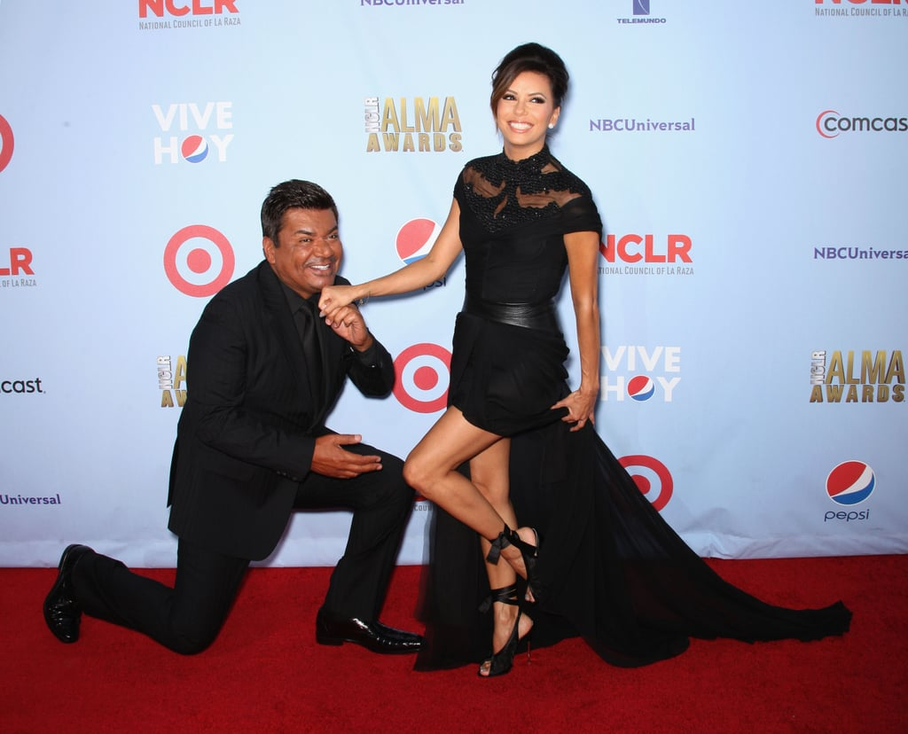 Co-Hosts George Lopez and Eva Longoria joked around.