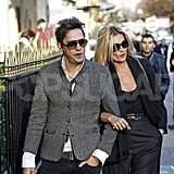 Kate Moss and Jamie Hince didn't hide their affection in Paris.