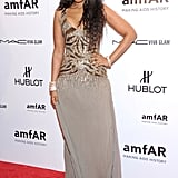 Jennifer Hudson attended the 2012 amfAR gala in NYC.